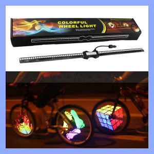 DIY Colorful 128 LED RGB Programmable Bicycle Fun Bike Wheel Lights pictures & photos