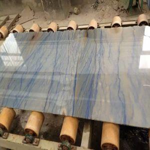 High-Polished/Blue Quartzite Slab/Quartz Stone for Wall Tiles/Hotel/Corridor pictures & photos