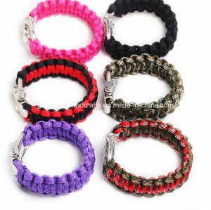 High Quality Metal Buckle Woven Paracord Bracelet (PB-1478) pictures & photos