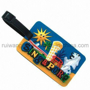 Soft PVC Rubber Luggage Tag for Promotion (LT006) pictures & photos