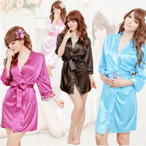 OEM Women Sexy Kimono Lingerie Bathrobe (53021) pictures & photos