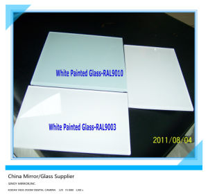 China 3mm-6mm Thickness Indoor Decorative White Painted Glass (BPG-1601) pictures & photos