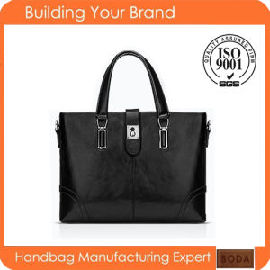 New Design Promotional Genuine Leather Business Men Bag pictures & photos