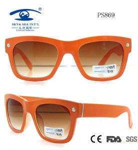 Plastic UV400 Fashionable Sunglasses Promotion Sunglasses (PS869) pictures & photos