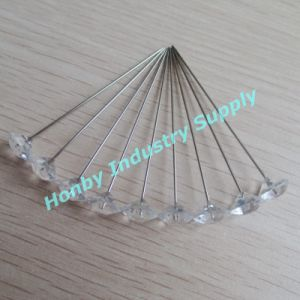 63mm Clear Plastic Diamond Head Pin for Christmas Decoration (P160219E) pictures & photos