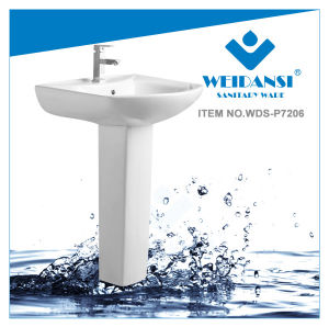 Weidansi Ceramic Wash Pedestal Basin Wash Sink (WDS-P7206) pictures & photos