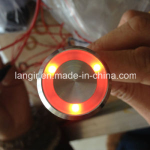 Langir 19mm IP68 Waterprrof Electrostatic Prevention Piezo Switch with Illuminated Stainless Steel pictures & photos