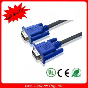 Plated Double Shielding HD15pin VGA Male to Male Cable for Projector, LCD pictures & photos