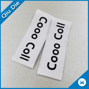 Ended Folded High Quality Woven Label for Apparel pictures & photos
