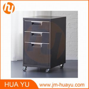 "Home Furniture 18"" Deep 3 Drawer Steel Rolling File Cabinet in Black pictures & photos"