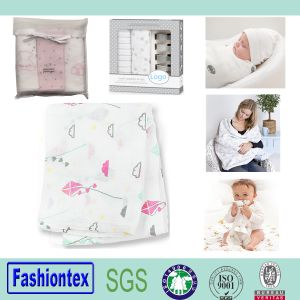 Patterned Muslin Fabric Baby Blankets Handmade pictures & photos