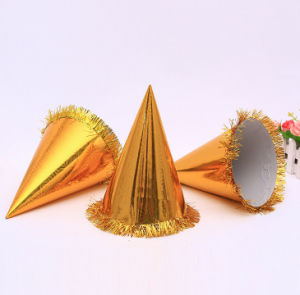 Golden Foil Paper Card Toying Hats pictures & photos