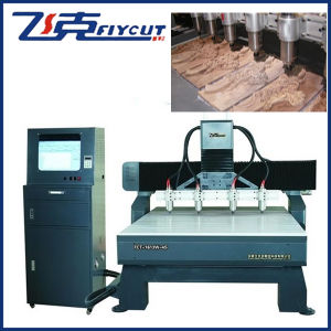 China Wood CNC Router with More Heads and Aluminum Table pictures & photos