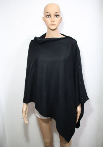 Lady Fashion Acrylic Knitted Button Shawl (YKY4405-4) pictures & photos