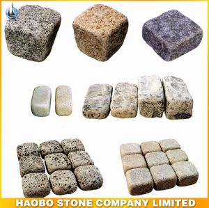 Natural Cheap Granite Cobble Stone for Paving pictures & photos