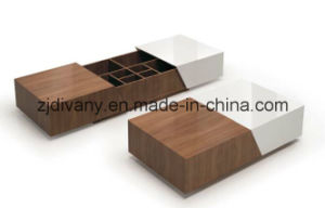 Italian Style Wooden Coffee Table Drawer Tea Table (T-92) pictures & photos