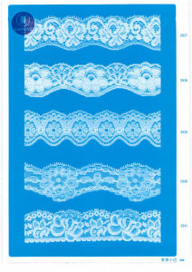 Elastic Lace for Clothing/Garment/Shoes/Bag/Case 2827 (width: 1cm to 11cm) pictures & photos