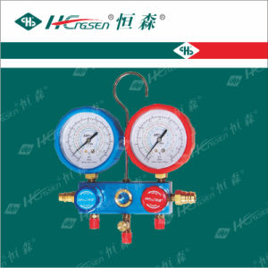 "Dual R12, R134A Auto AC Manifold Gauge Sets (1/4""SAE Connection) / Manifold Gauge Sets/Double Gauge Valve/Valve pictures & photos"