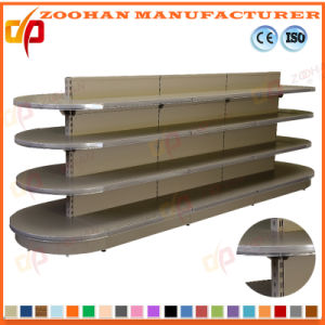 High Quality Gondola Steel and Wood Style Supermarket Shelf (ZHs646) pictures & photos