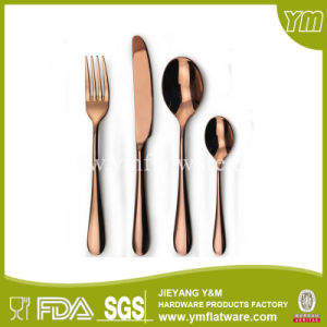 Stainless Steel Matte Cutlery Rose Gold Flatware pictures & photos