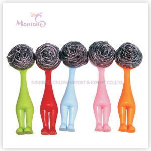 Cleanign Tools Man-Shaped Plastic Kitchen Pot Cleaning Brush pictures & photos