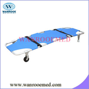 Two Fold Folding Stretcher with Wheels pictures & photos