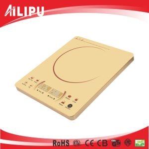 2016 Super Slim Golden Color Sensor Touch 2 LED Display Ultra Thin Made in China Induction Stove/ Induction Cooktop pictures & photos