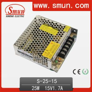25W 15V 1.7A Switching Power Supply with 2 Years Warranty pictures & photos