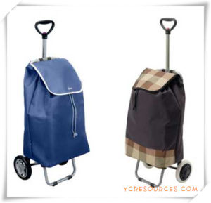 Two Wheels Shopping Trolley Bag for Promotional Gifts (HA82013) pictures & photos