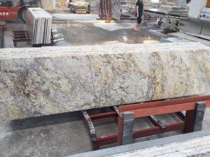Ariston Gold Granite Kitchen Island Countertops pictures & photos