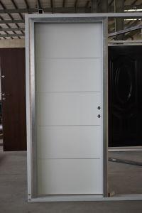 Decorative Aluminium Strips Inserted Apartment Israeli Residential Steel Interior Door pictures & photos