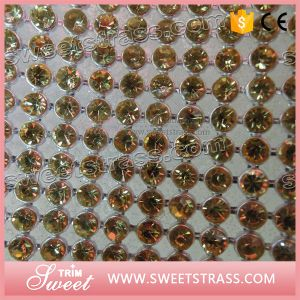High Quality Topaz Crystal Rhinestone Net Mesh pictures & photos