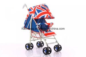 Blue Maple Leaf Baby Stroller with Basket pictures & photos