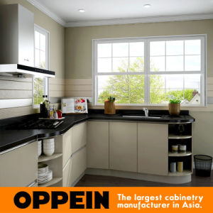 Oppein Modern Wholesale HPL Melamine Small Kitchen Cabinets (OP16-HPL02) pictures & photos