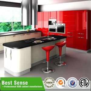 Red Kitchen Wall Hanging Cabinet/Kitchen Furniture pictures & photos