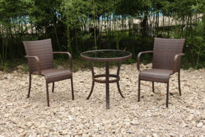 Outdoor Garden Rattan/Wicker Table 2 Chairs Leisure Furniture (FS-2140+ FS-2051) pictures & photos
