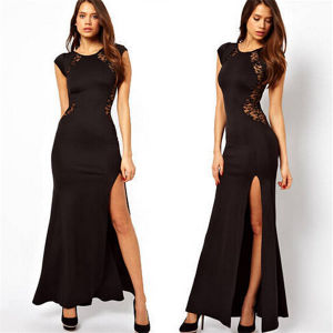 Latest Slimming Sexy Long Maxi Lace Gown Dress pictures & photos