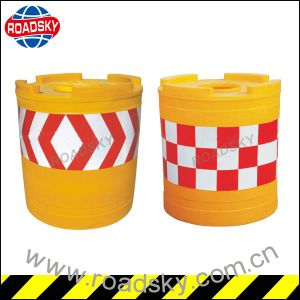 Driveway Safety Traffic Reflective Plastic Crash Barrel pictures & photos