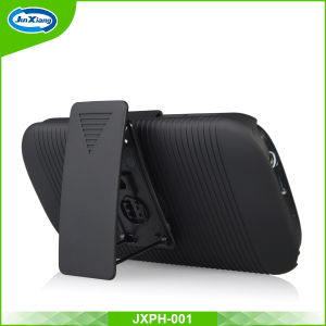 Anti-Slip Stripe Pattern Holster Combo Case for for Bmobile Ax680+ pictures & photos