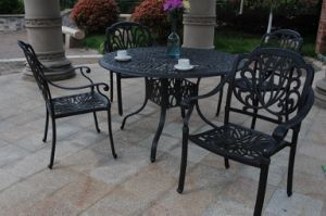 Economical Leisure Classical Chair Set Hot Sale 5PCS Dining Sets Furniture Outdoor Garden Hotel Chat Conversational Set 4 People Seating Cast Aluminum Furniture pictures & photos