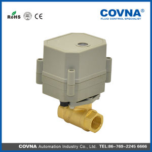 DC12V Motorised Brass Water Ball Valve