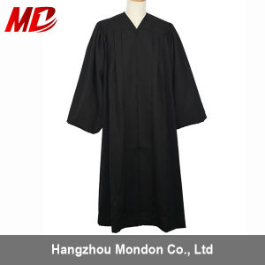 Wholesale Traditional Geneva Clergy Robes Bell Sleeves with Cuff Black pictures & photos