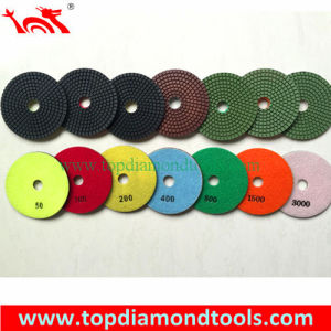 4 Inch Flexible Wet Diamond Polishing Pads Fpr Granite and Marble pictures & photos