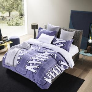 Cotton Bed Linen Bedding Set with Bed Sheet Duvet Cover pictures & photos