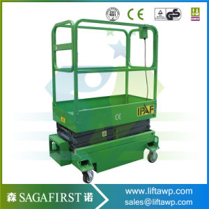 Rail Scissor Lift Platform Used in Orchard pictures & photos