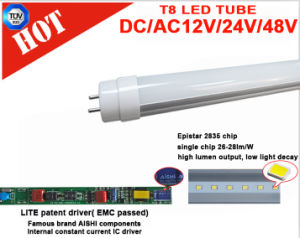 TUV Certificated 1200mm DC 12V T8 LED Tube pictures & photos
