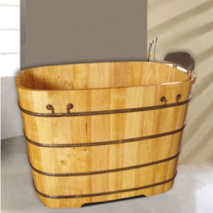 Hotel Medicated Bath Wooden Bath Tub (NJ-056) pictures & photos