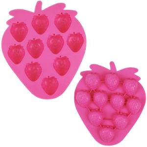 Lovely Strawberry Shape Silicone Ice Tray Ice Mould Ice Maker pictures & photos