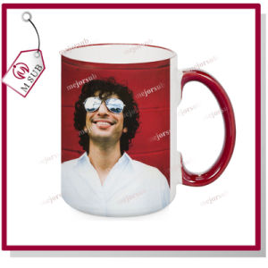 15oz Sublimation Ceramic Coffee Mug Handle Colored pictures & photos