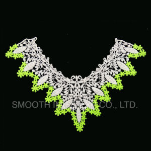 Fashion Garment Embroidered Lace Collar with Mesh Design Three-Colour Fabric pictures & photos